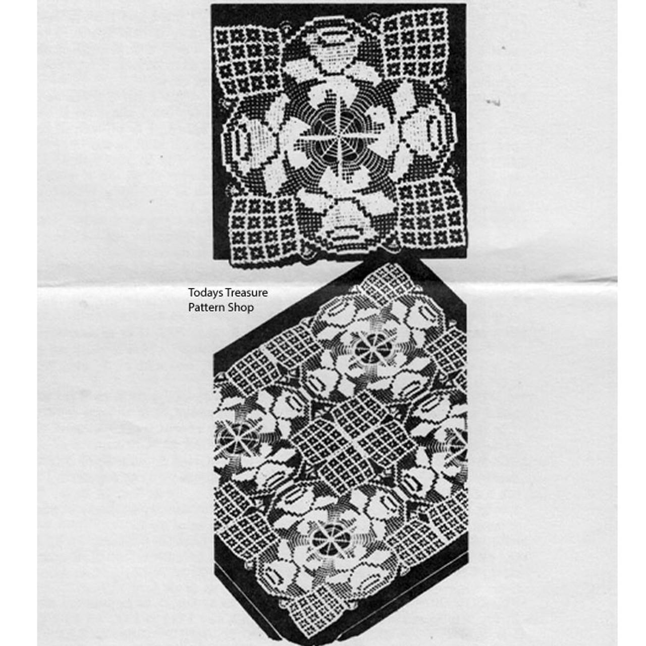 Rose Square Crochet Pattern No 7271