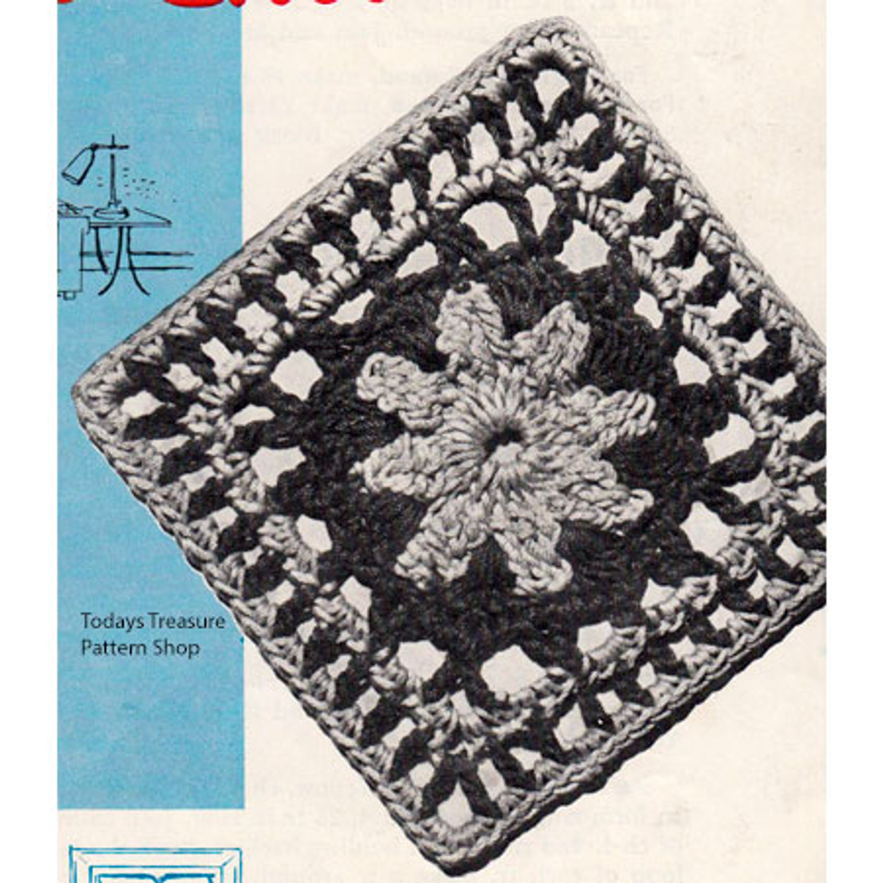 Illinois Modern Vintage Crochet Square Pattern