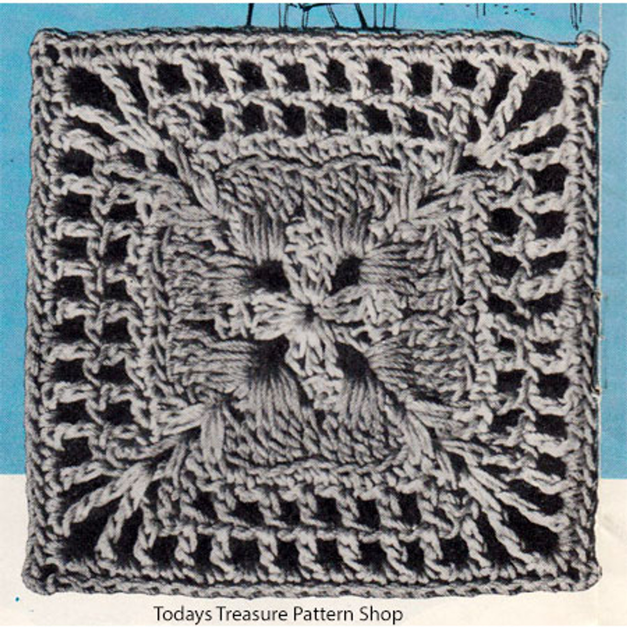 Crochet Nebraska Modern Square Pattern