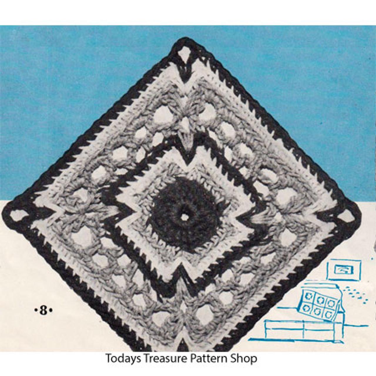 Vintage Crochet Connecticut Square Pattern for Bedspreads