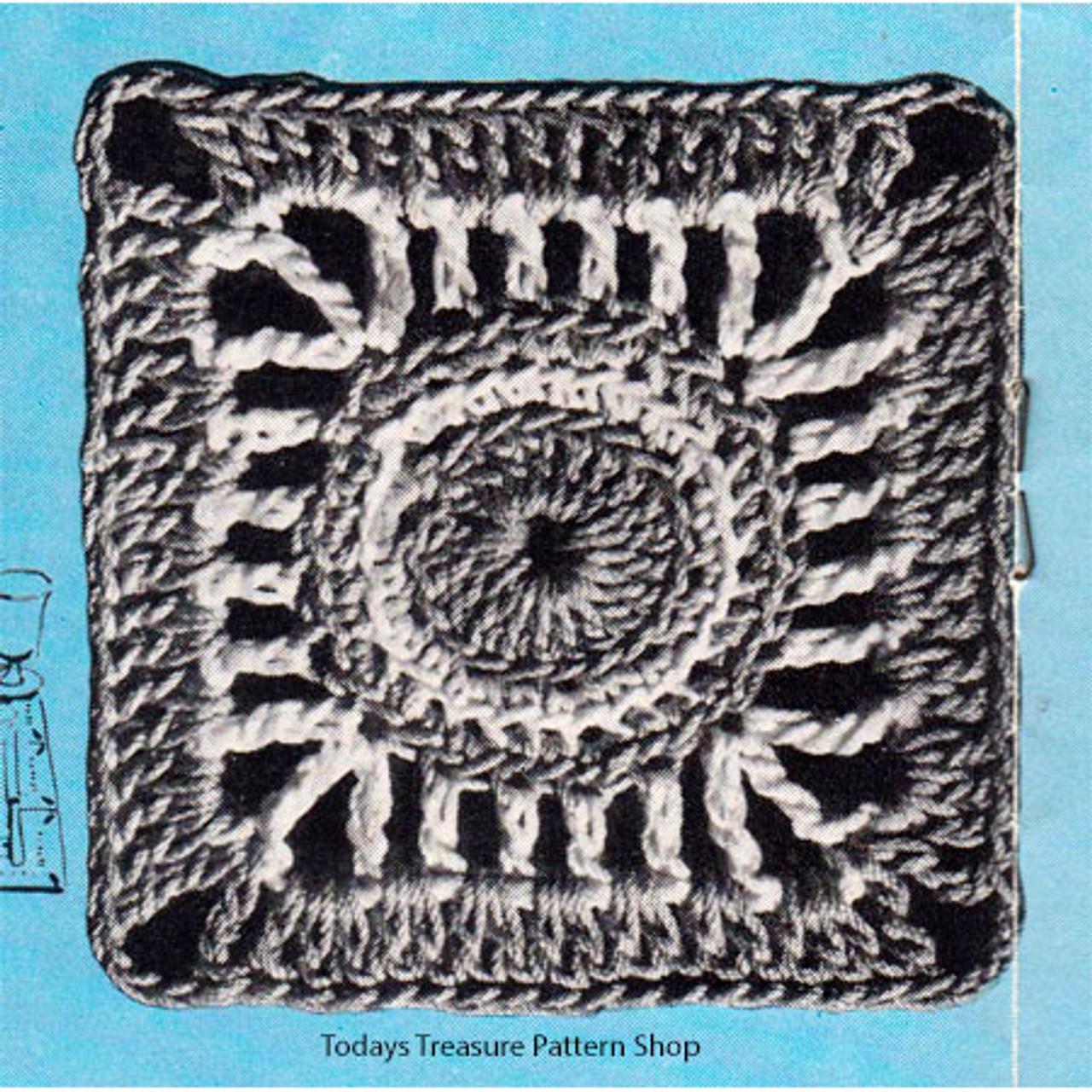 Vintage Washington Modern Crochet Square for Bedspread Pattern
