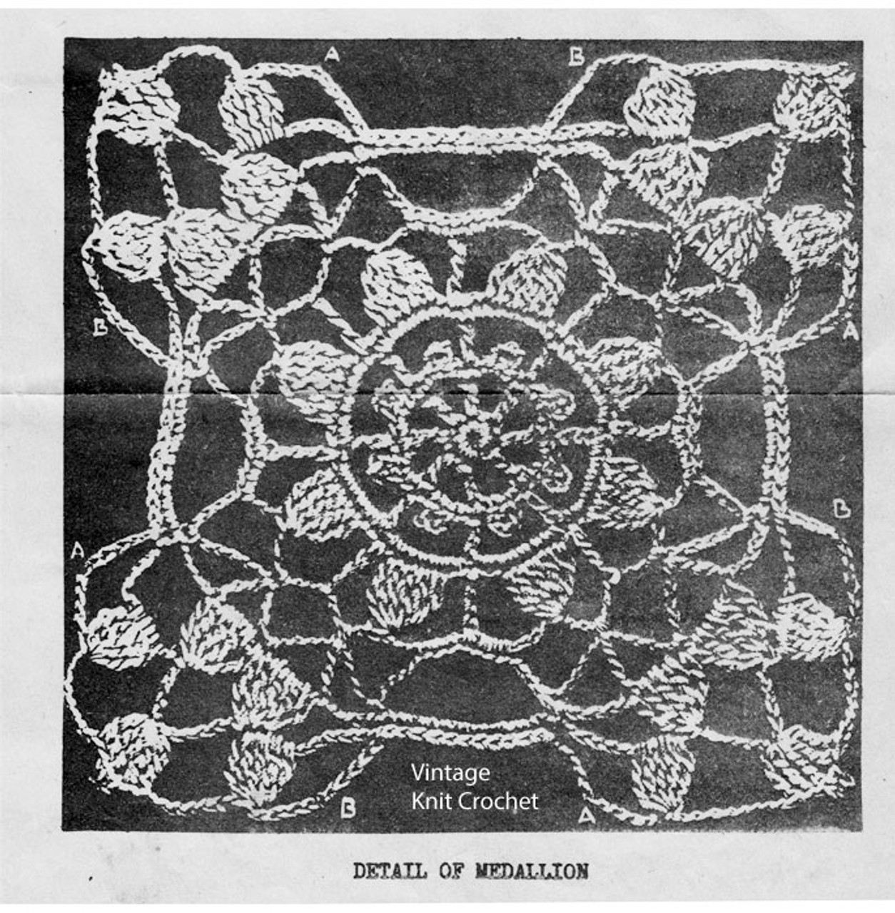 Vintage Lace Medallion Crochet Pattern No 5560