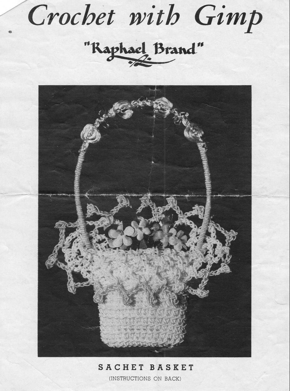 Small Crocheted Sachet Basket Pattern