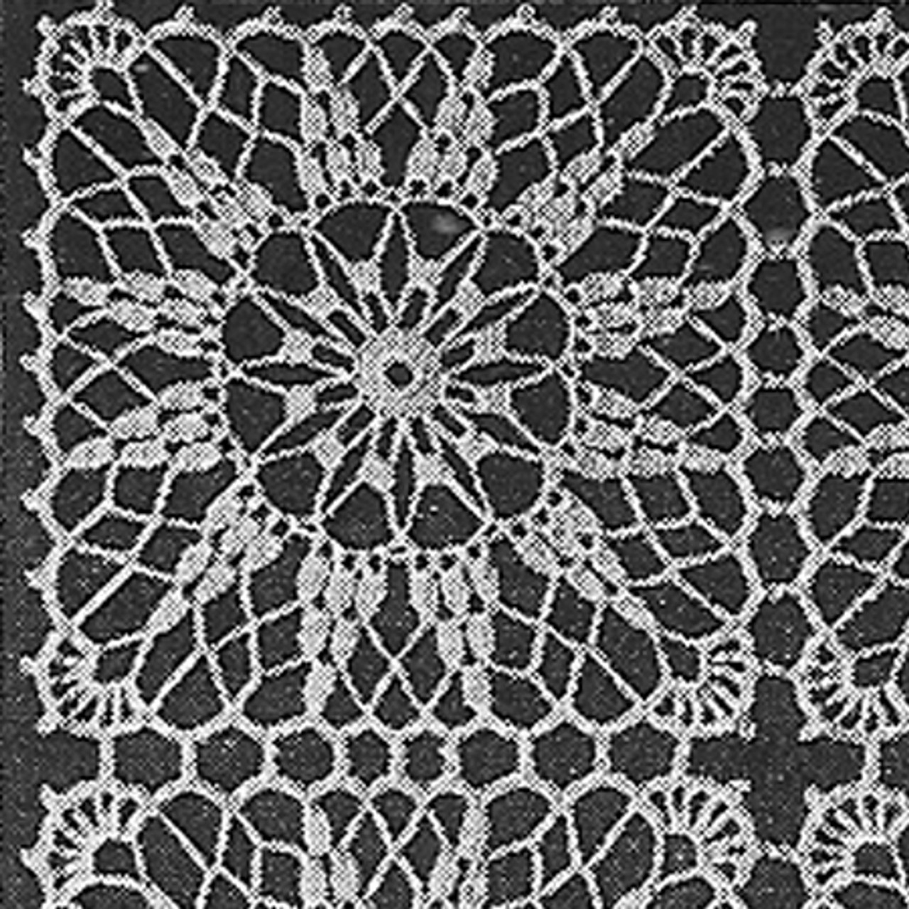 Vintage Crochet Square Pattern Called Bright Store