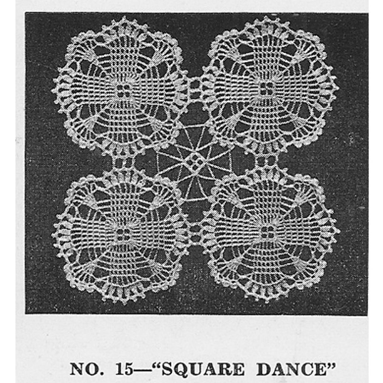 Vintage Square Dance Crochet Medallions Pattern Joined