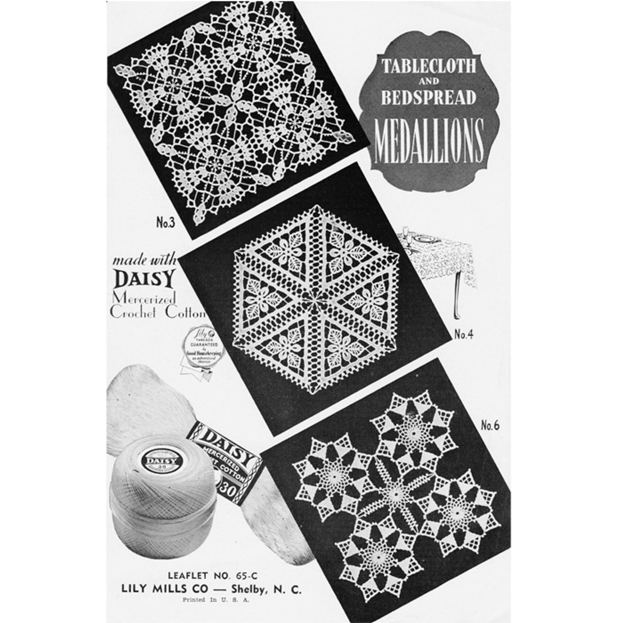 Crochet Vintage Squares Pattern from Lily Mills