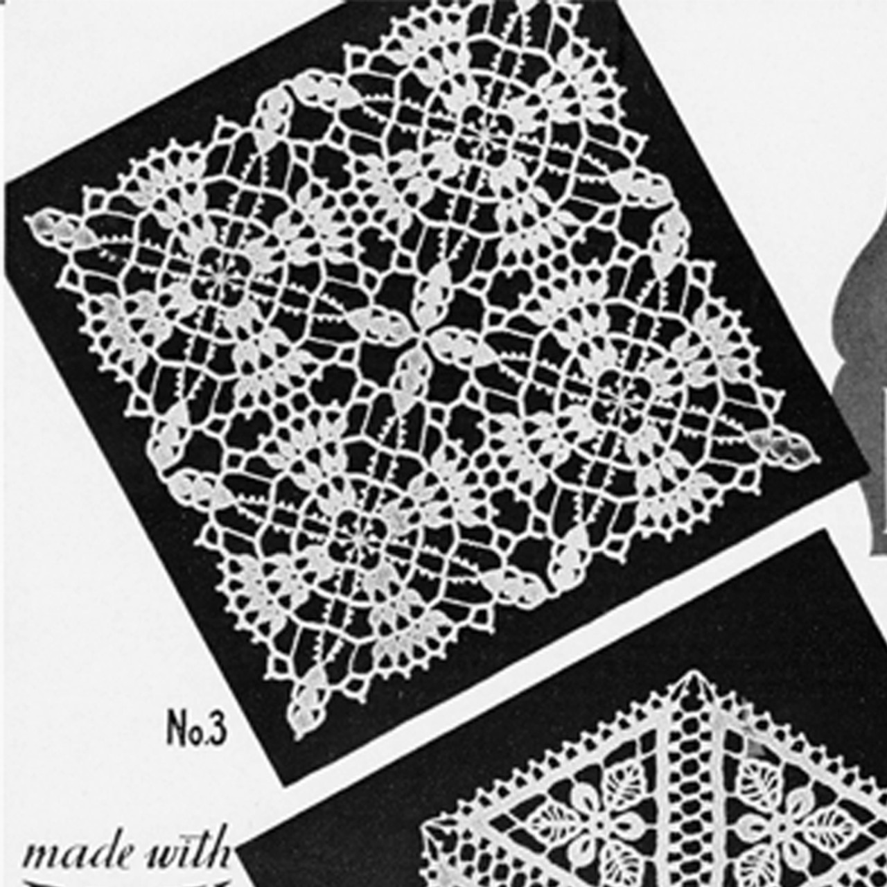 Crocheted Square Block Pattern from Lily Mills
