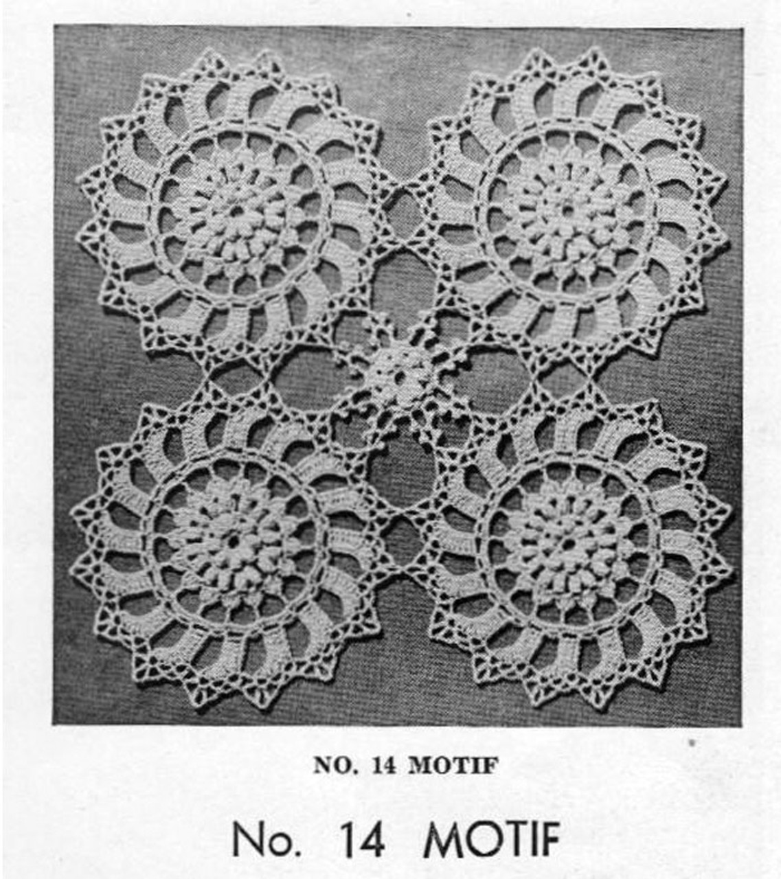 Crochet Round Medallion Pattern,  Bedspreads Runners No 14