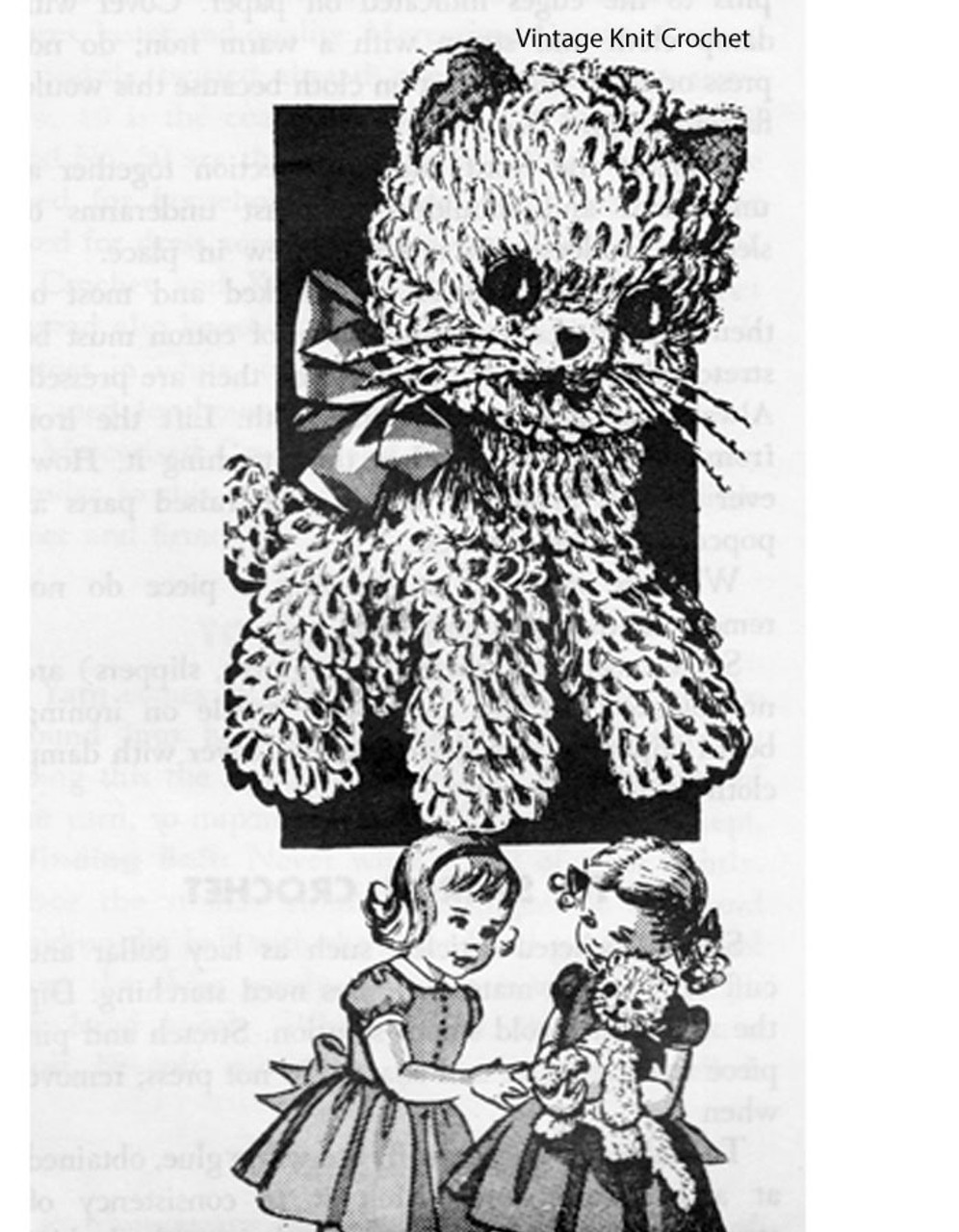 Crochet Kitten Pattern, Stuffed Toy, Laura Wheeler 919