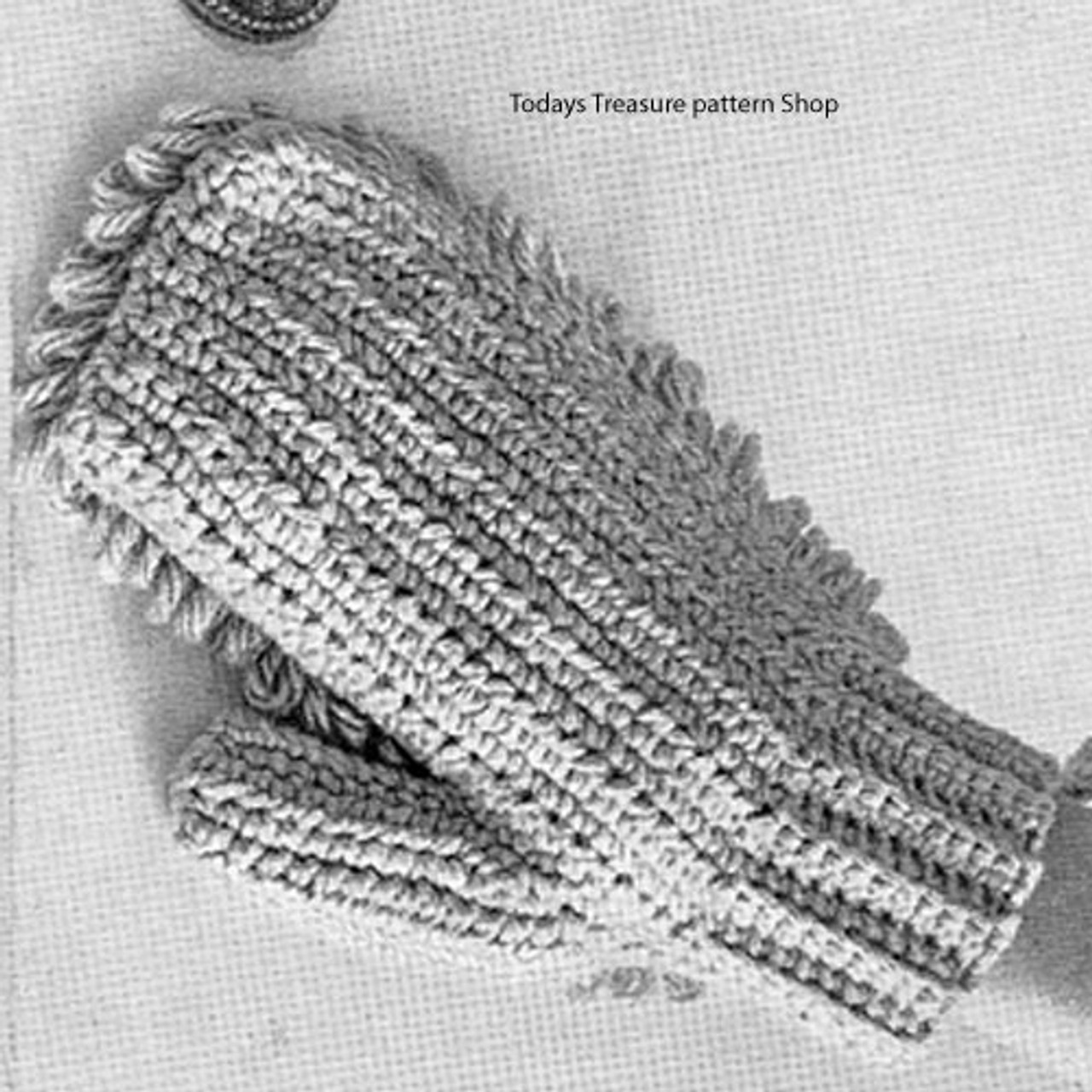 Vintage Dust Mitt Crochet Pattern