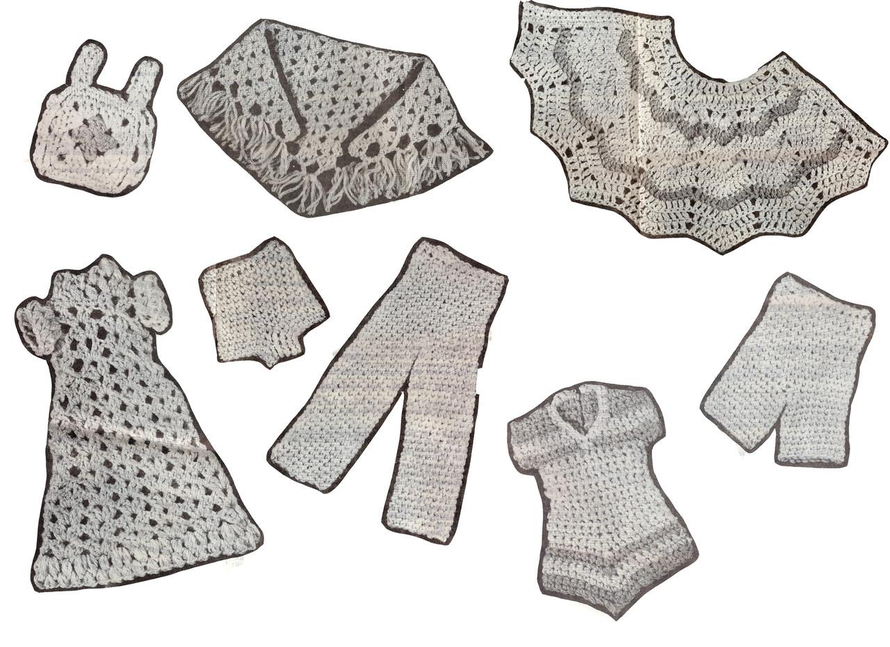 Crochet pattern Barbie doll wardrobe