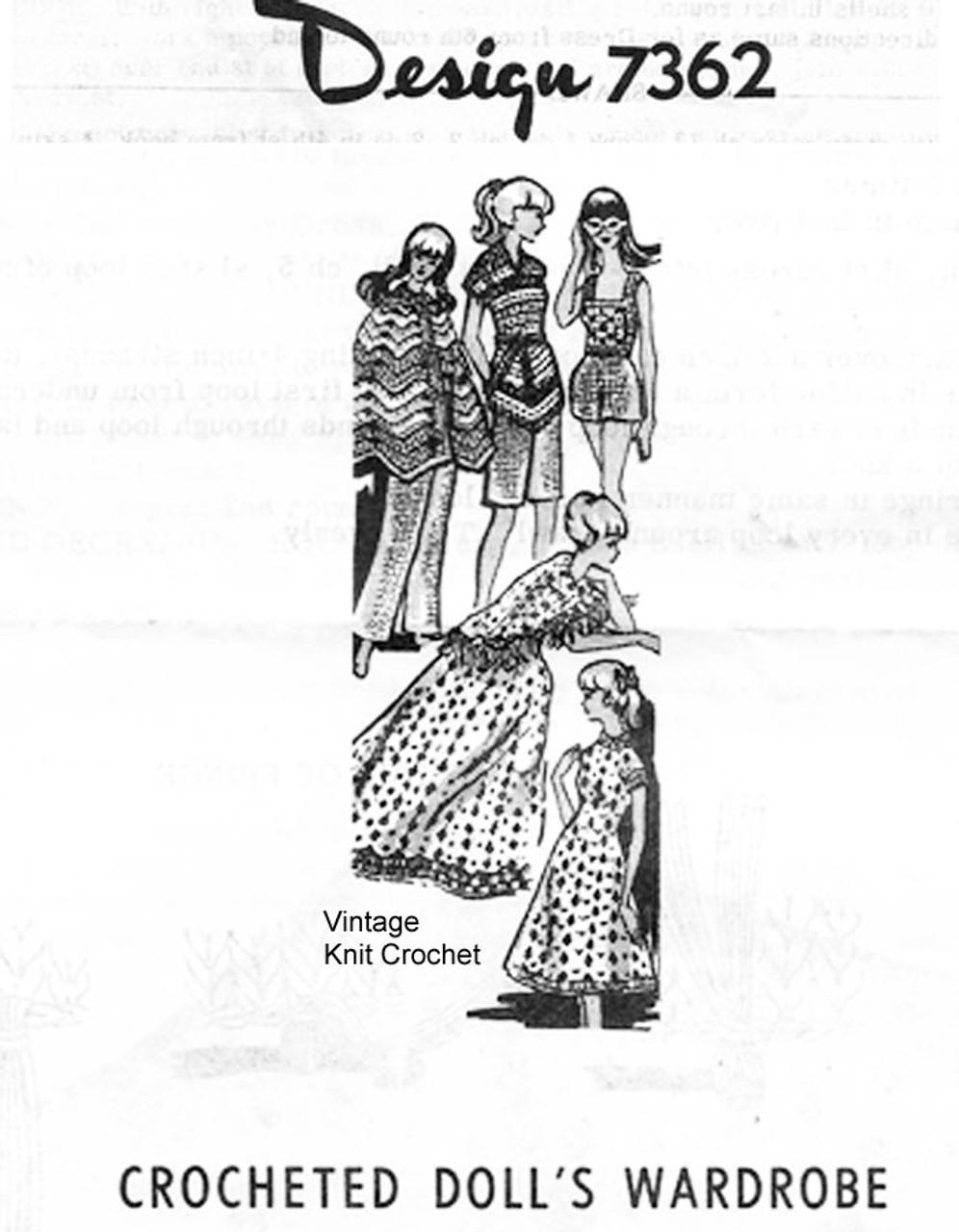 Crochet Fashion Doll Clothes, Alice Brooks 7362