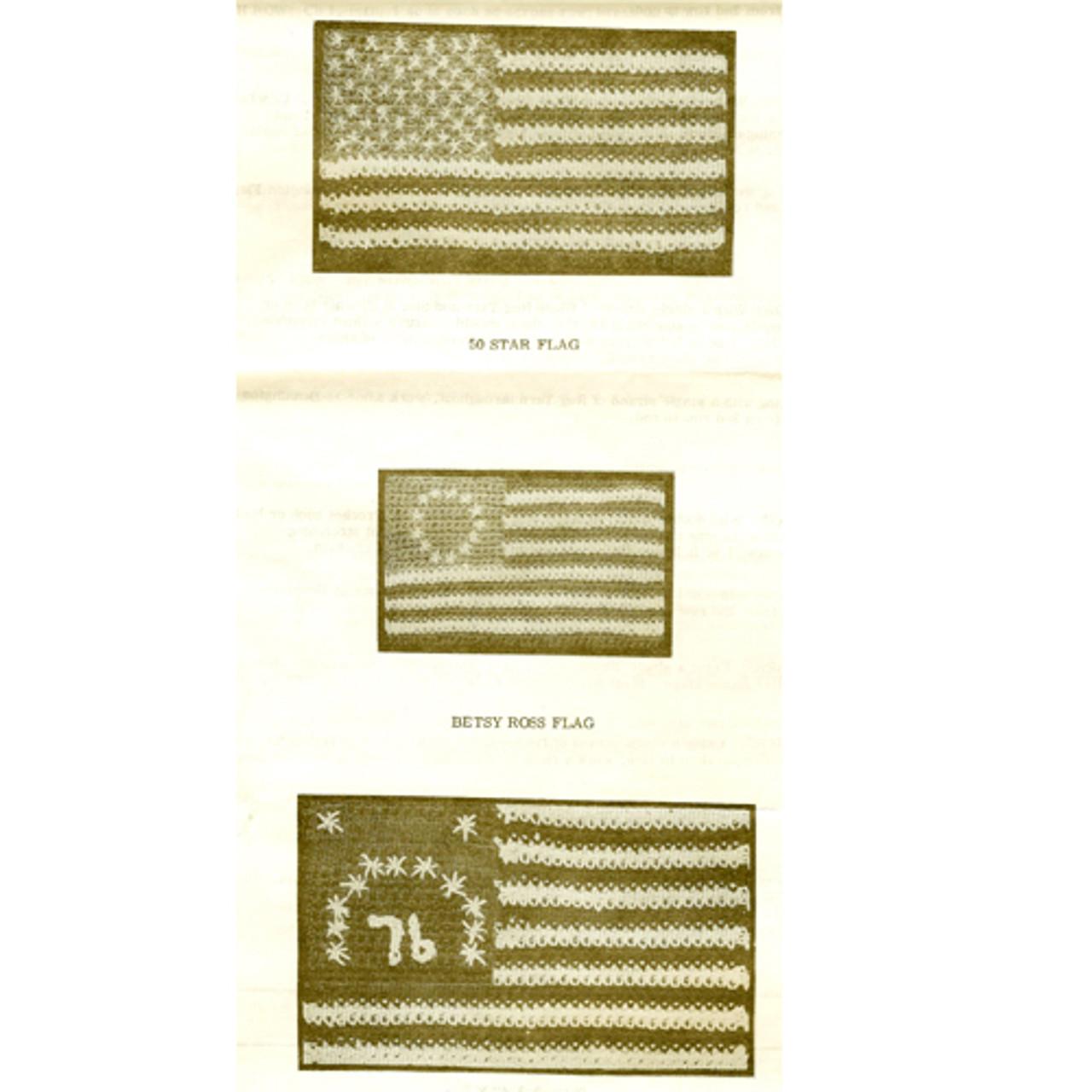 Three Crocheted American Flags