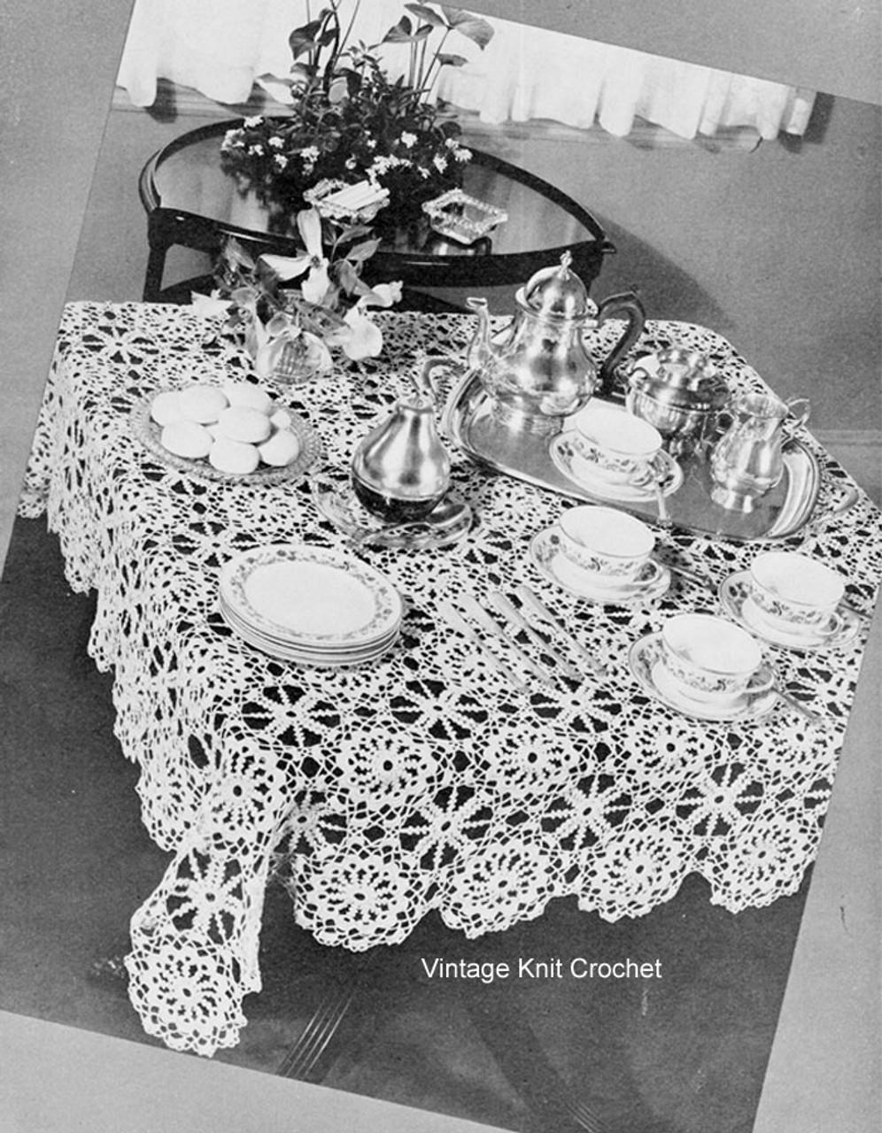 Crochet Irish Rose Tablecloth Pattern