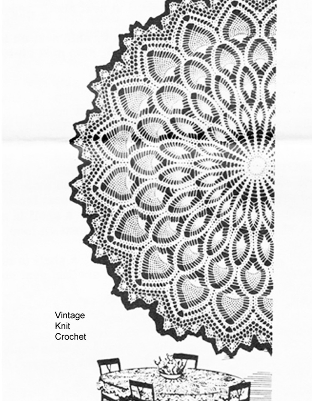 Mail Order Pineapple Cloth Pattern, Mail Order 845