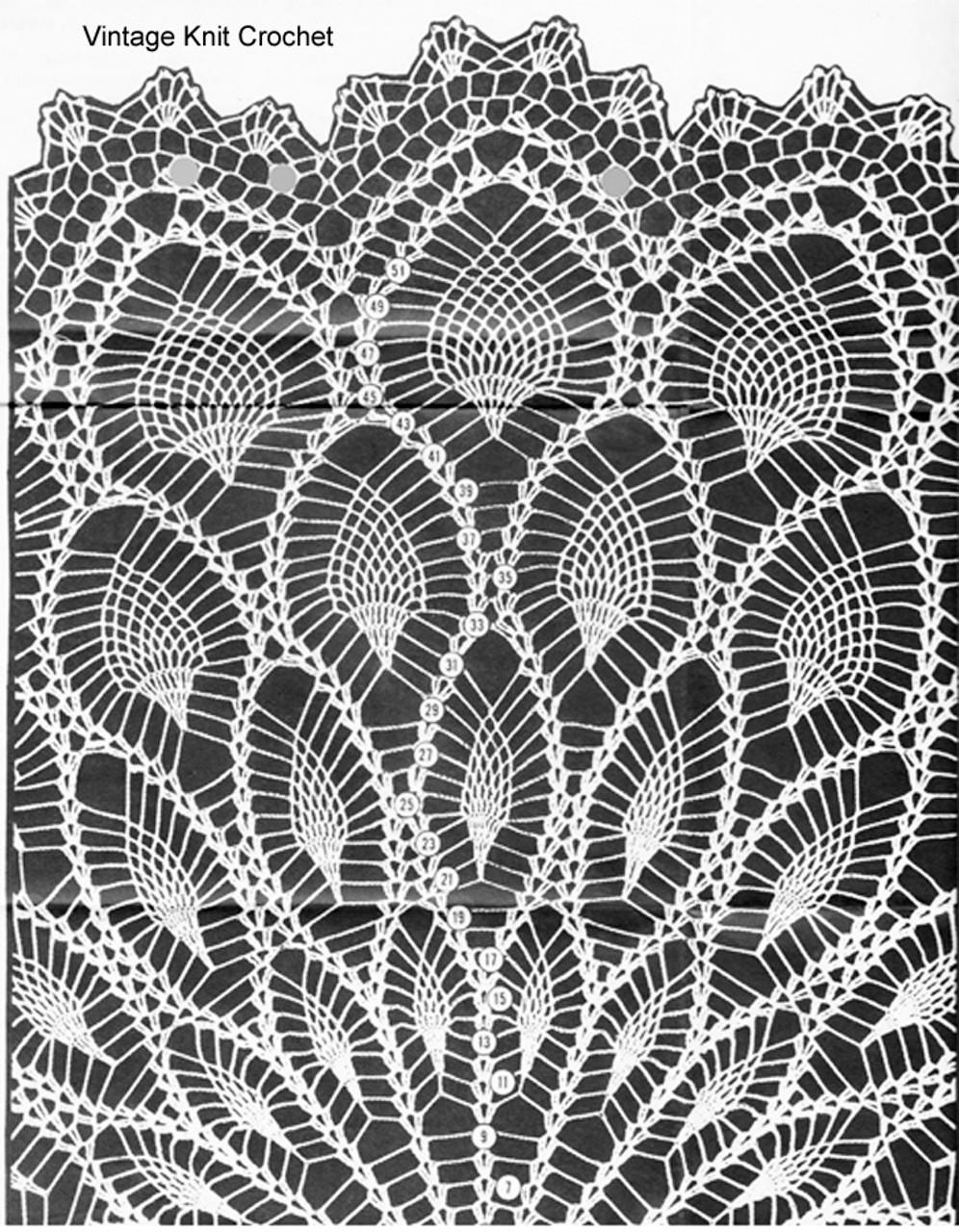 Round Pineapple Cloth Crochet Illustration, Design 845