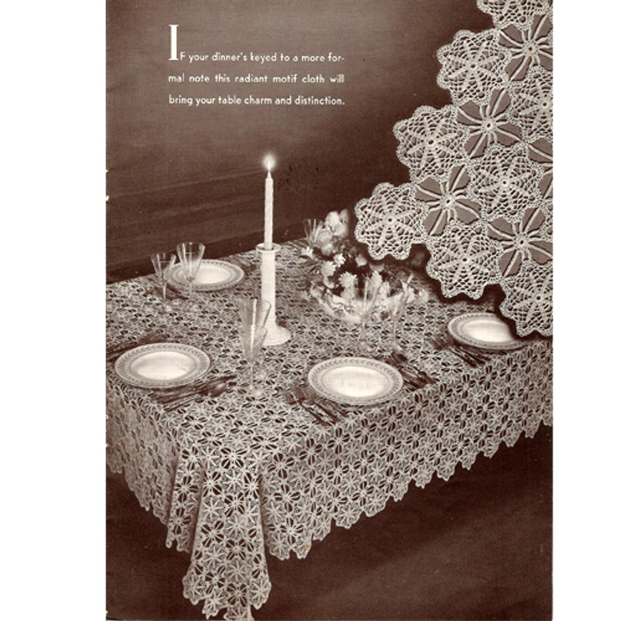 Vintage 1940s Ardmore Crochet Tablecloth Pattern