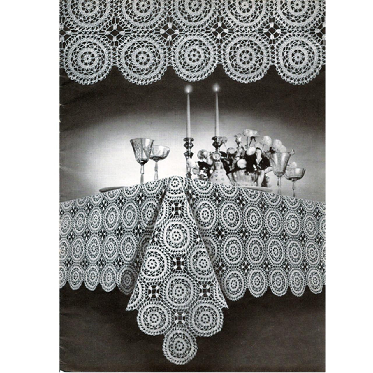 Large Round Medallion, Monterey Crochet Tablecloth