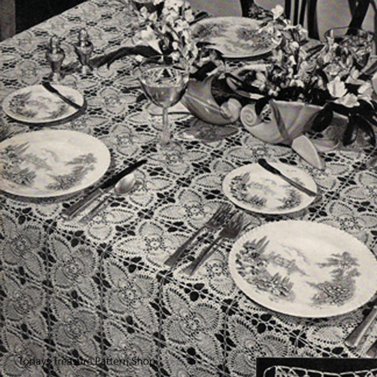Crochet Pineapple Block Tablecloth pattern