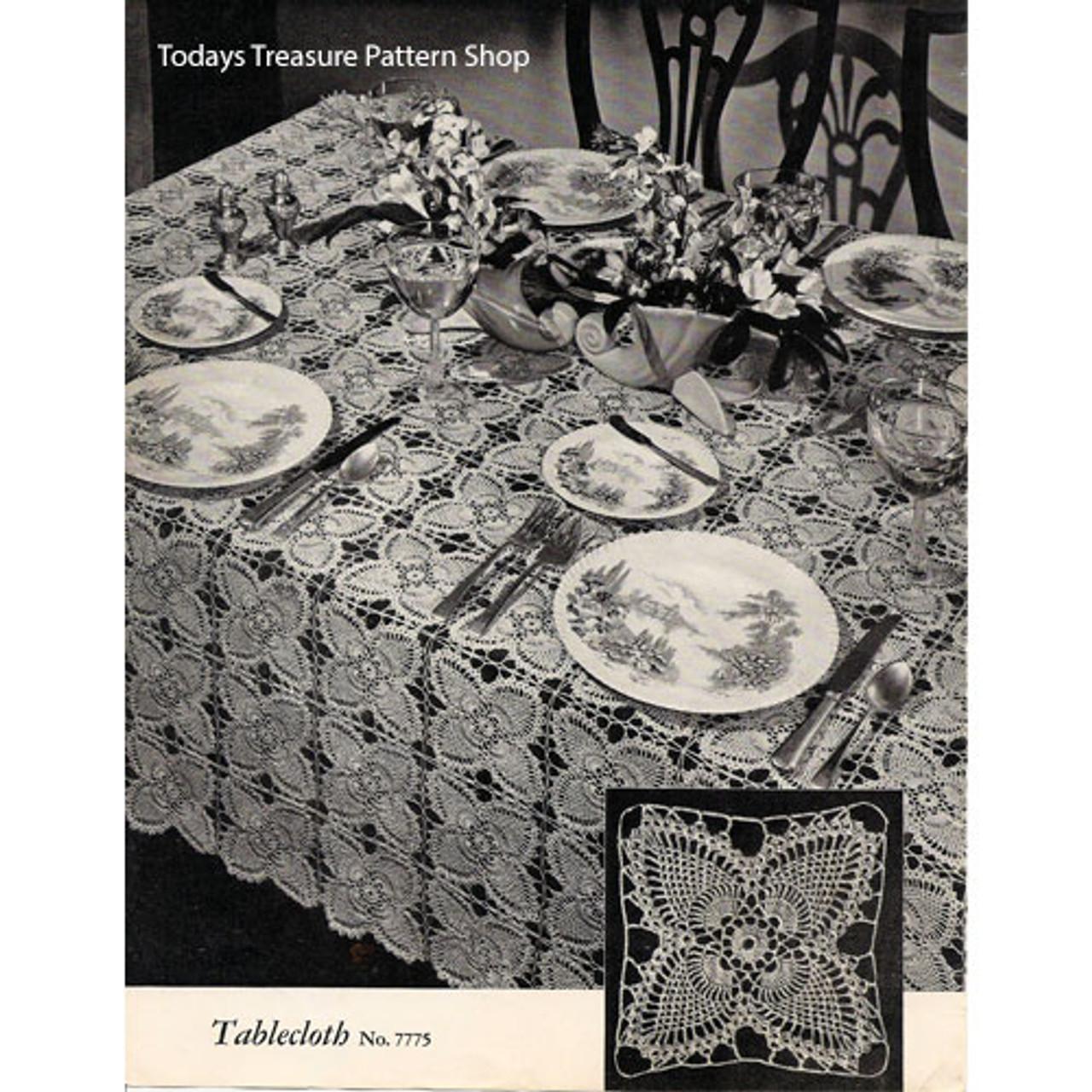 Vintage Pineapple Crochet Tablecloth Pattern