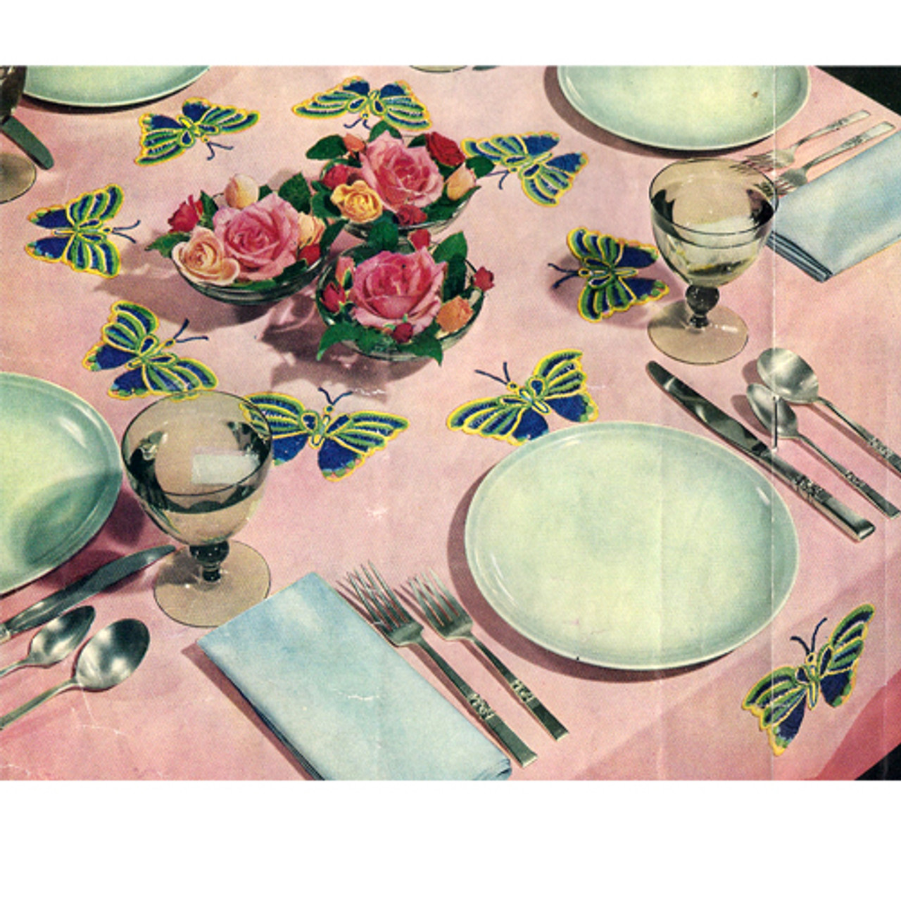 Crochet Butterfly Tablecloth pattern