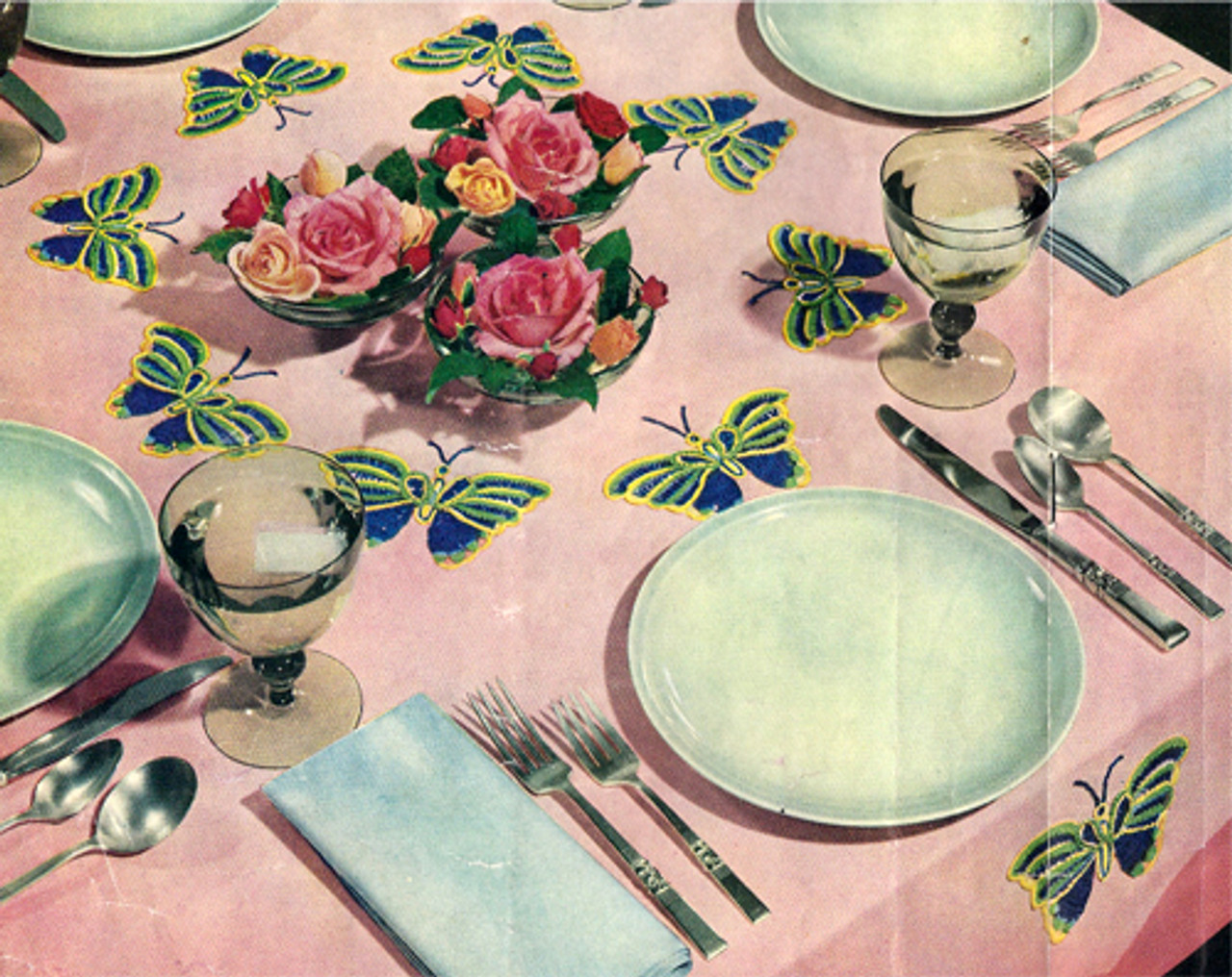 Butterfly Linen Crochet Tablecloth Pattern