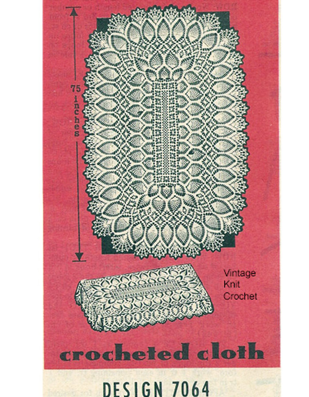 Crochet Pineapple Tablecloth Pattern Design 7064