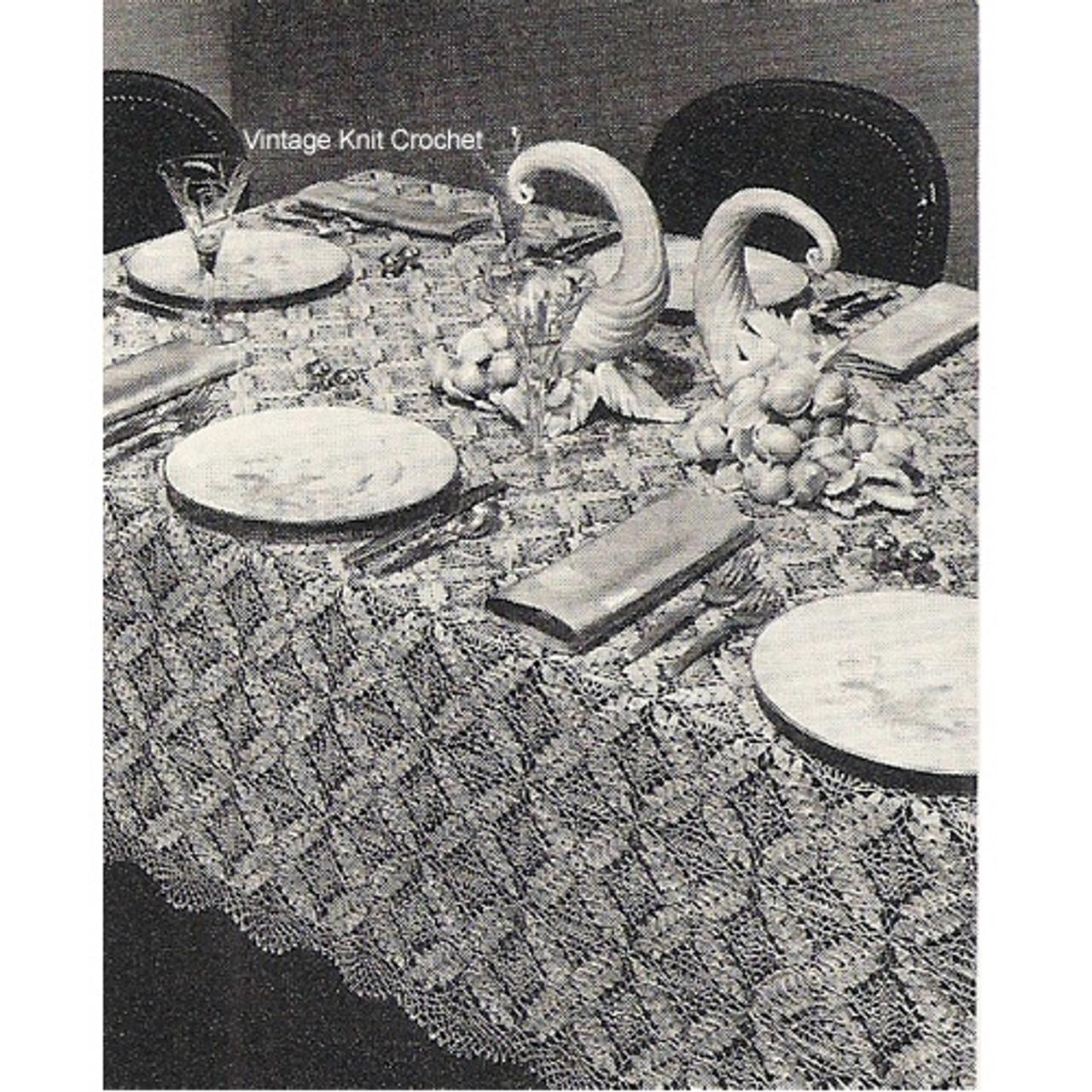 Vintage Wheat Motif Tablecloth Pattern