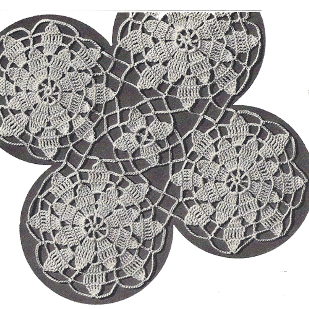 Queen Anne's Lace Joined Medallions Pattern