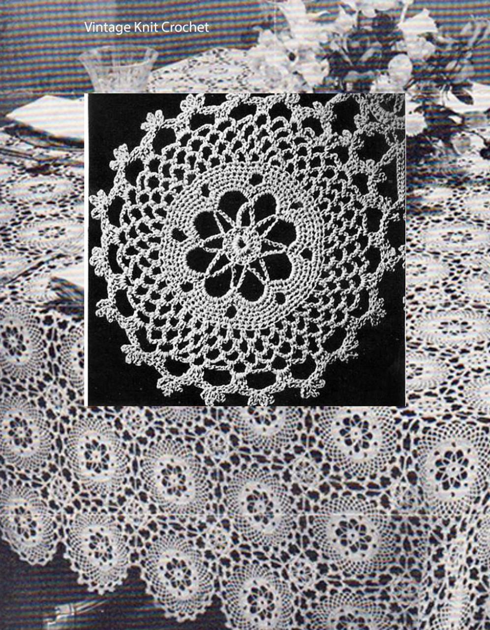 Worlds Fair Crochet Tablecloth Pattern Leaflet