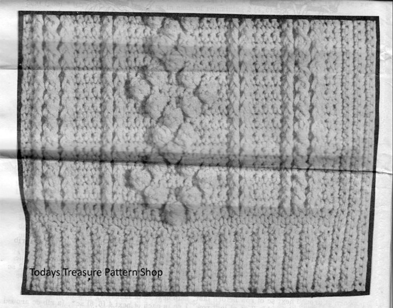 Aran Cardigan Pattern Detail for Mans Crochet Cardigan