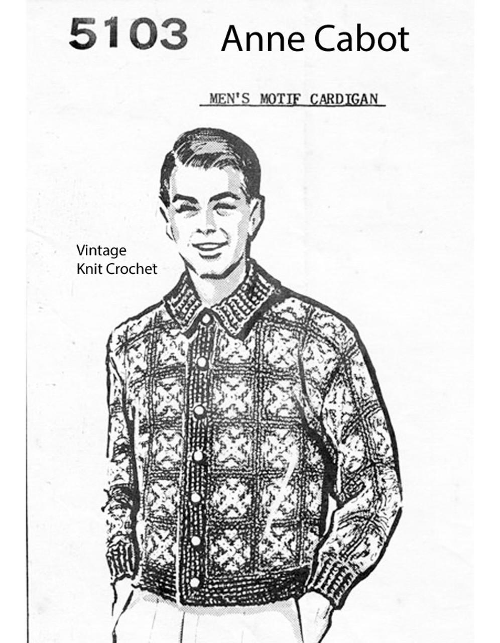 Mans Crocheted Block Jacket Pattern No 5103