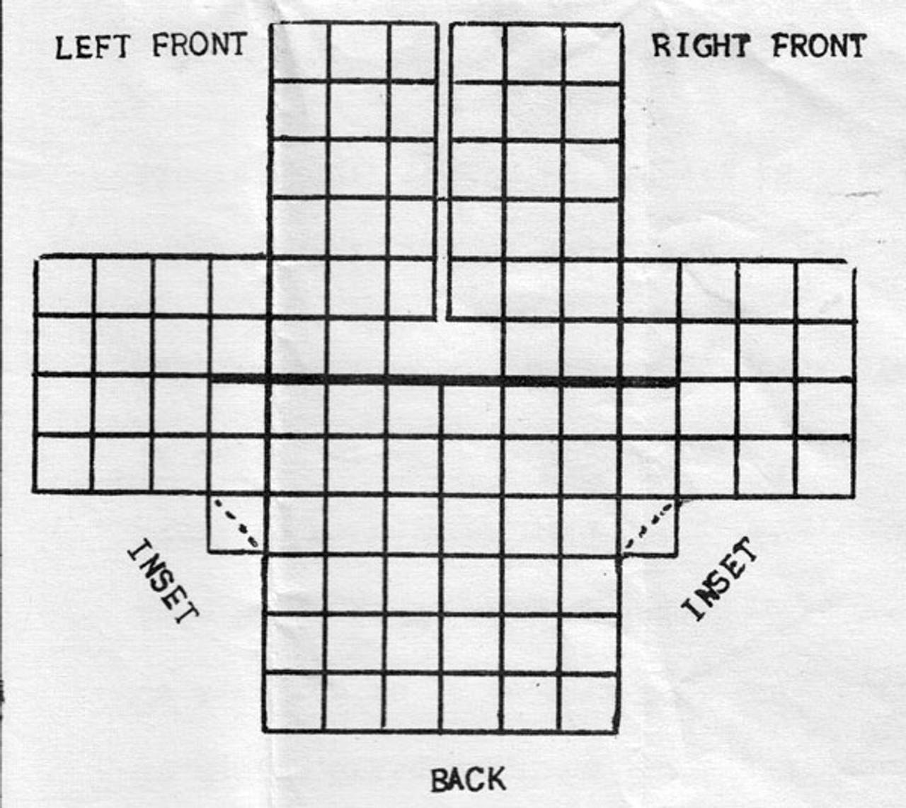 Crochet Granny Square Jacket Layout Diagram
