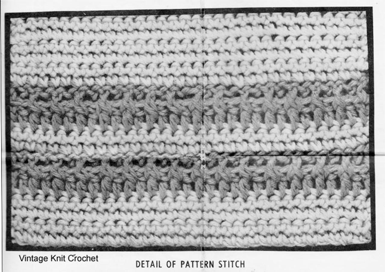 Rib Cardigan Crochet Pattern Illustration, Alice Brooks 7140