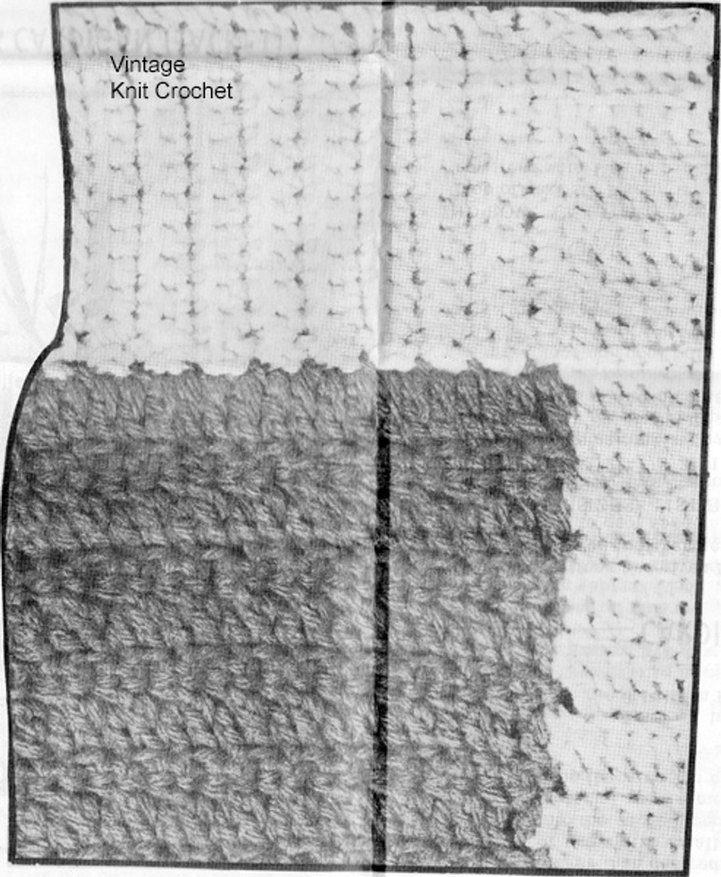 Crochet Cardigan Pattern Stitch Illustration