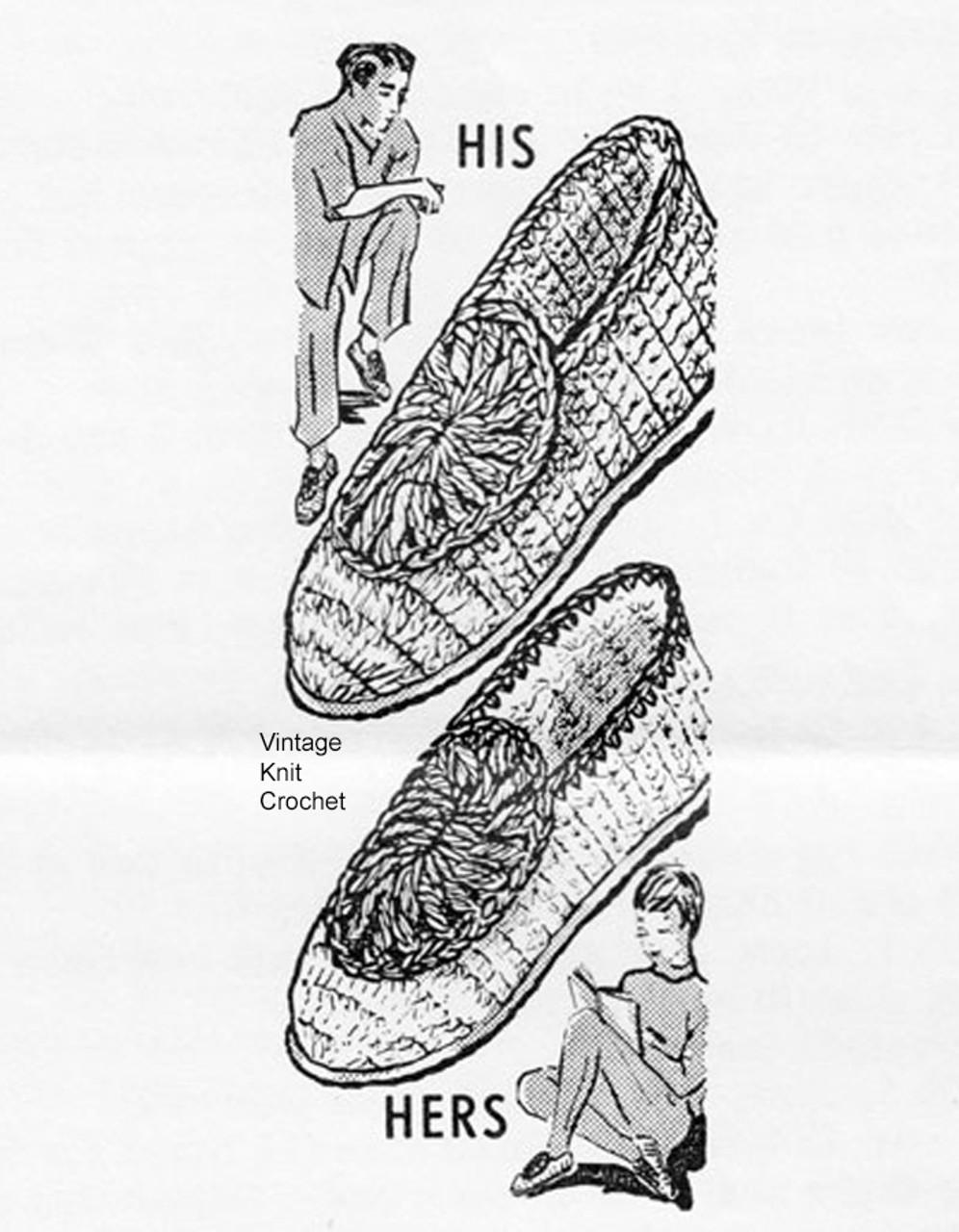 Mens Crochet Slippers Pattern, Design 557