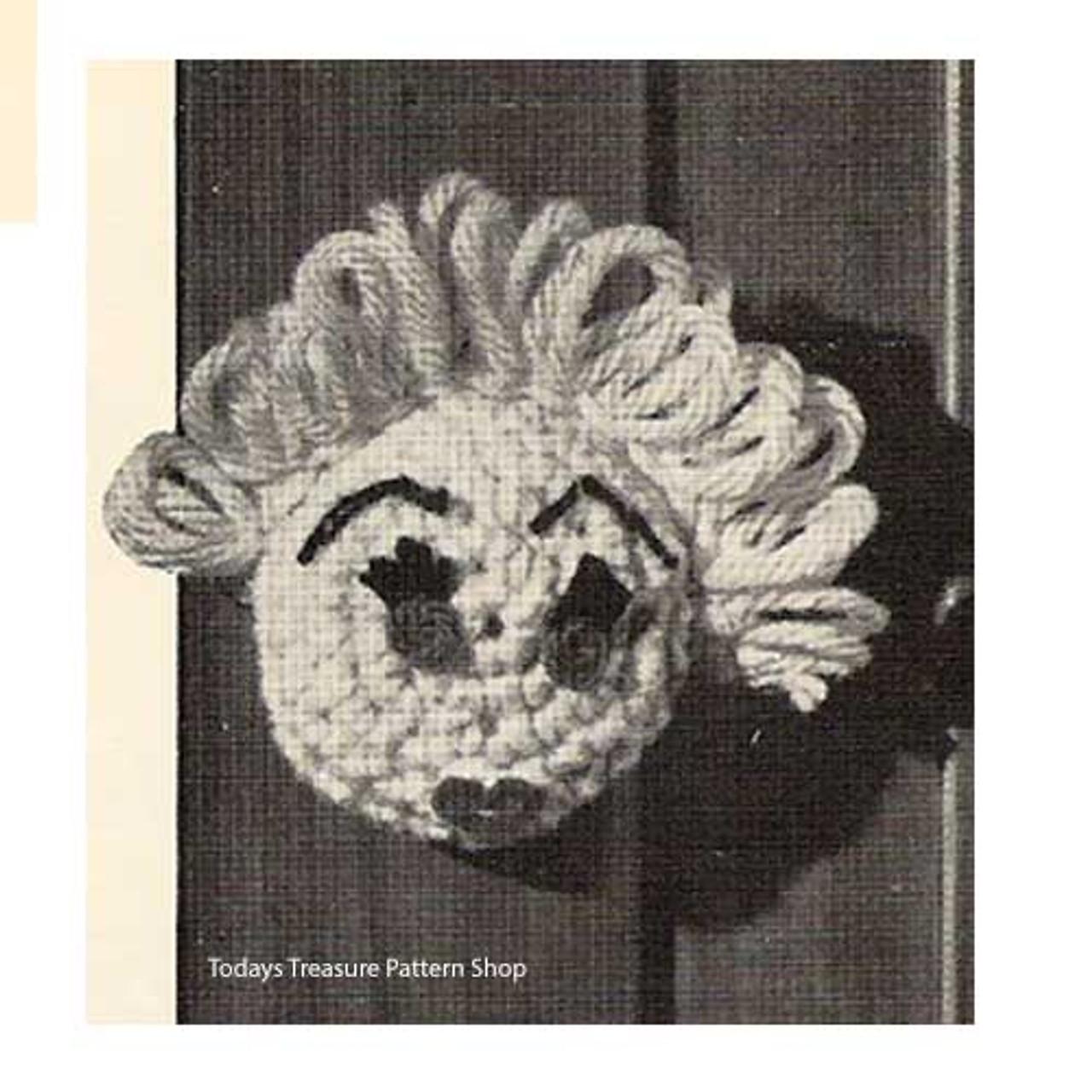 Girl Crochet Doorknob Cover Pattern