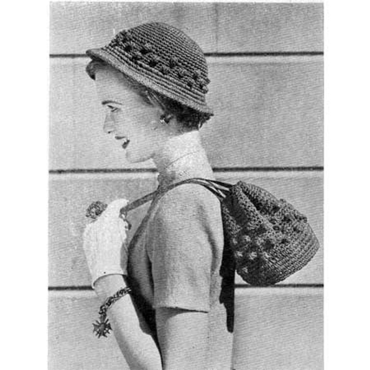 Vintage Crochet Cap and Bag Pattern