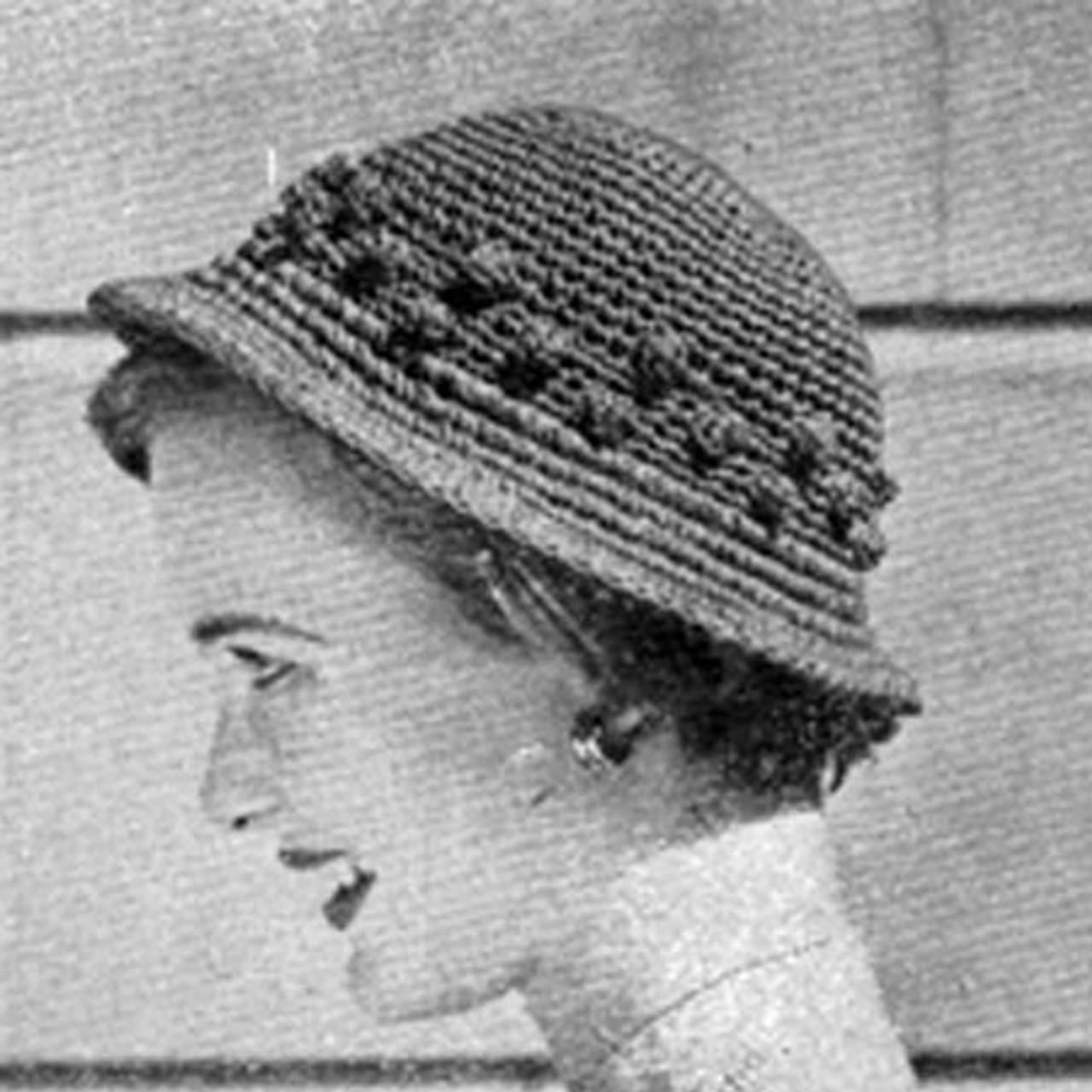 Small Brim Crochet Hat Pattern with Popcorn Trim