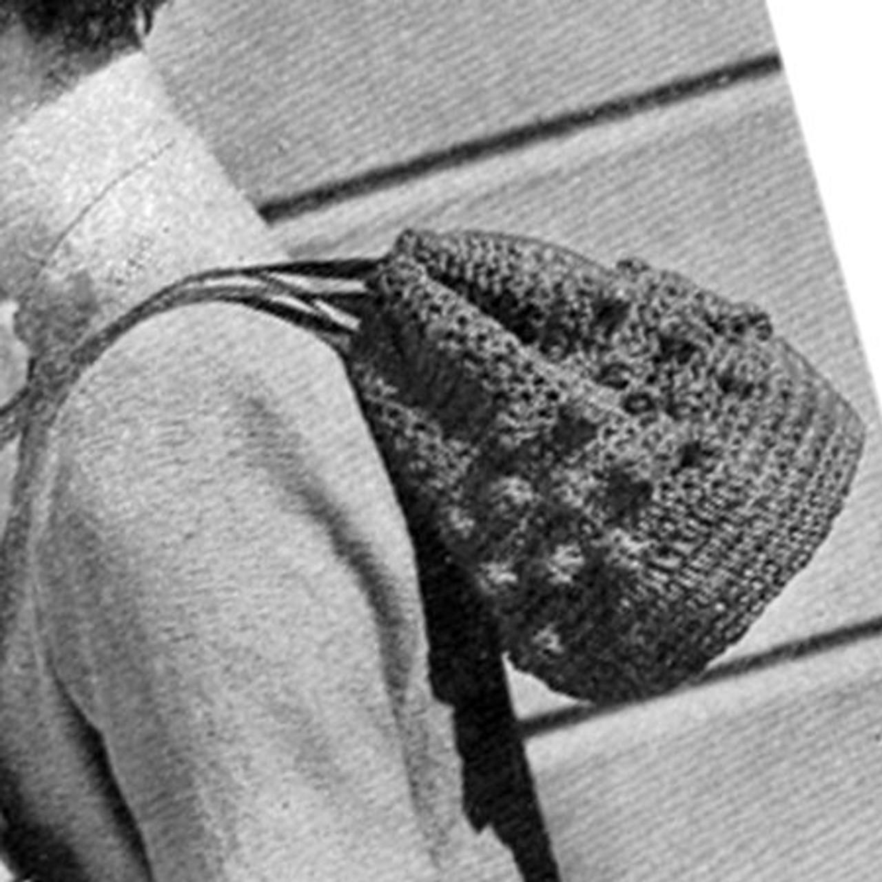 Crochet Drawstring Bag Pattern with Popcorn Band