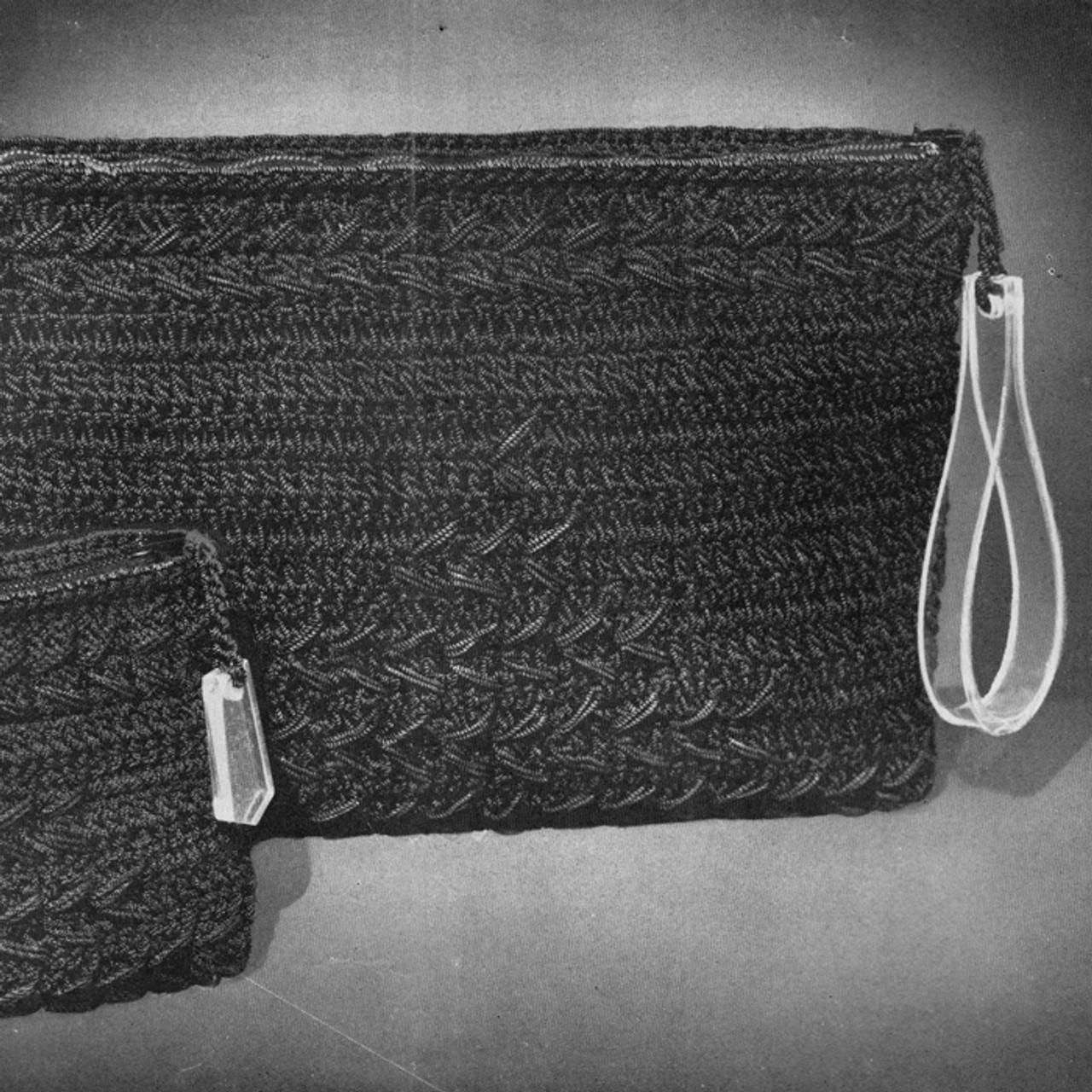 Vintage Corde Crochet Clutch Bags Pattern