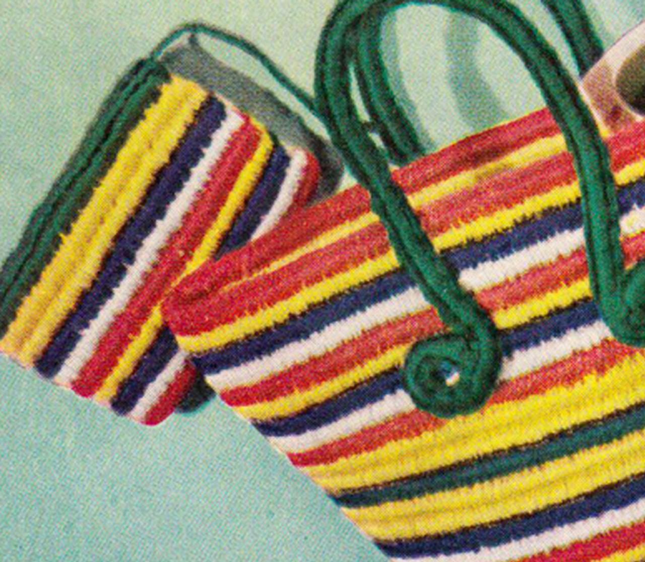 Crochet Striped Tote Bag Pattern