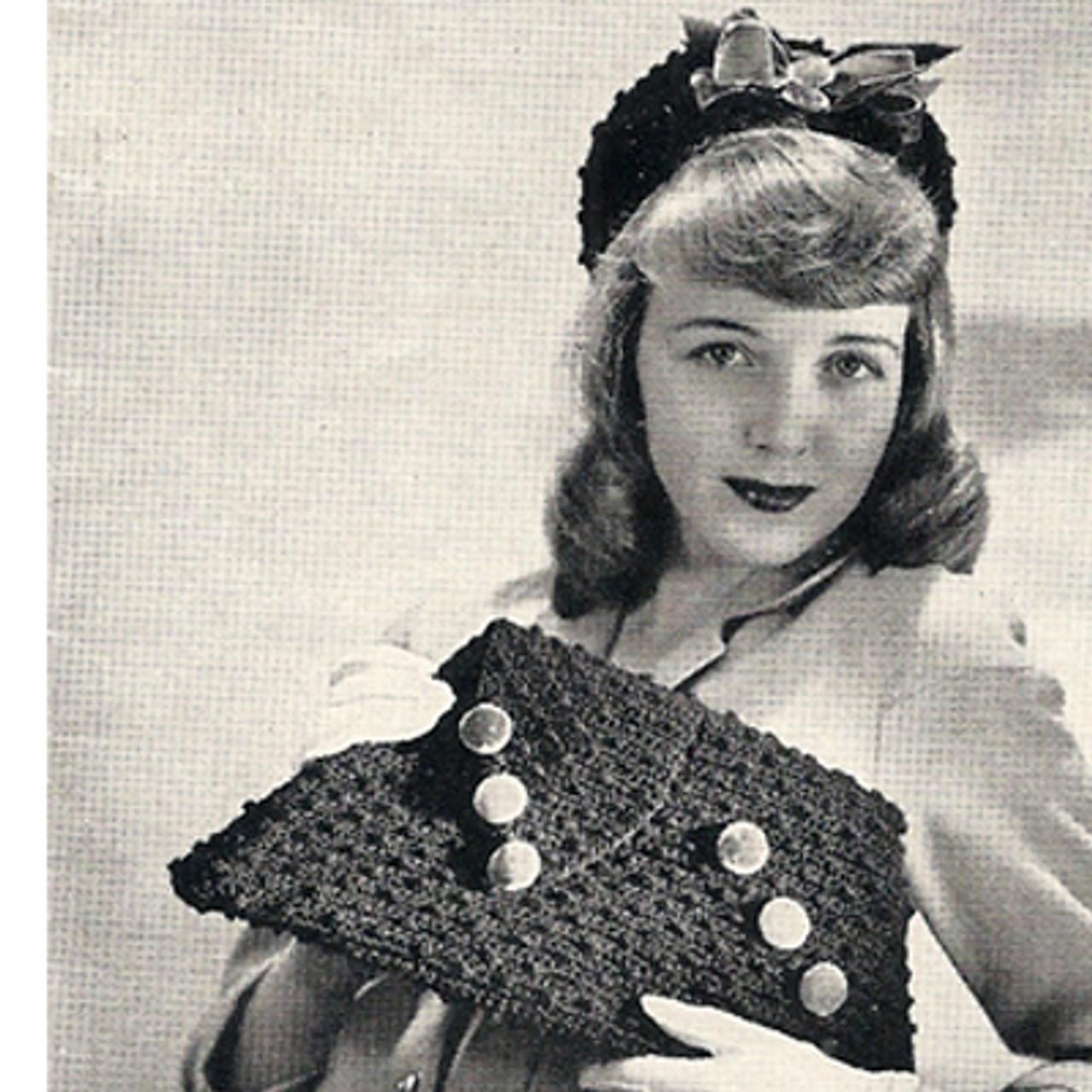 Crochet Calot and Handbag Pattern, Spool Cotton