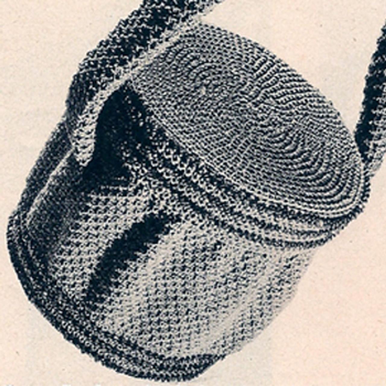 Vintage Beaded Round Bag, Free Crochet Pattern