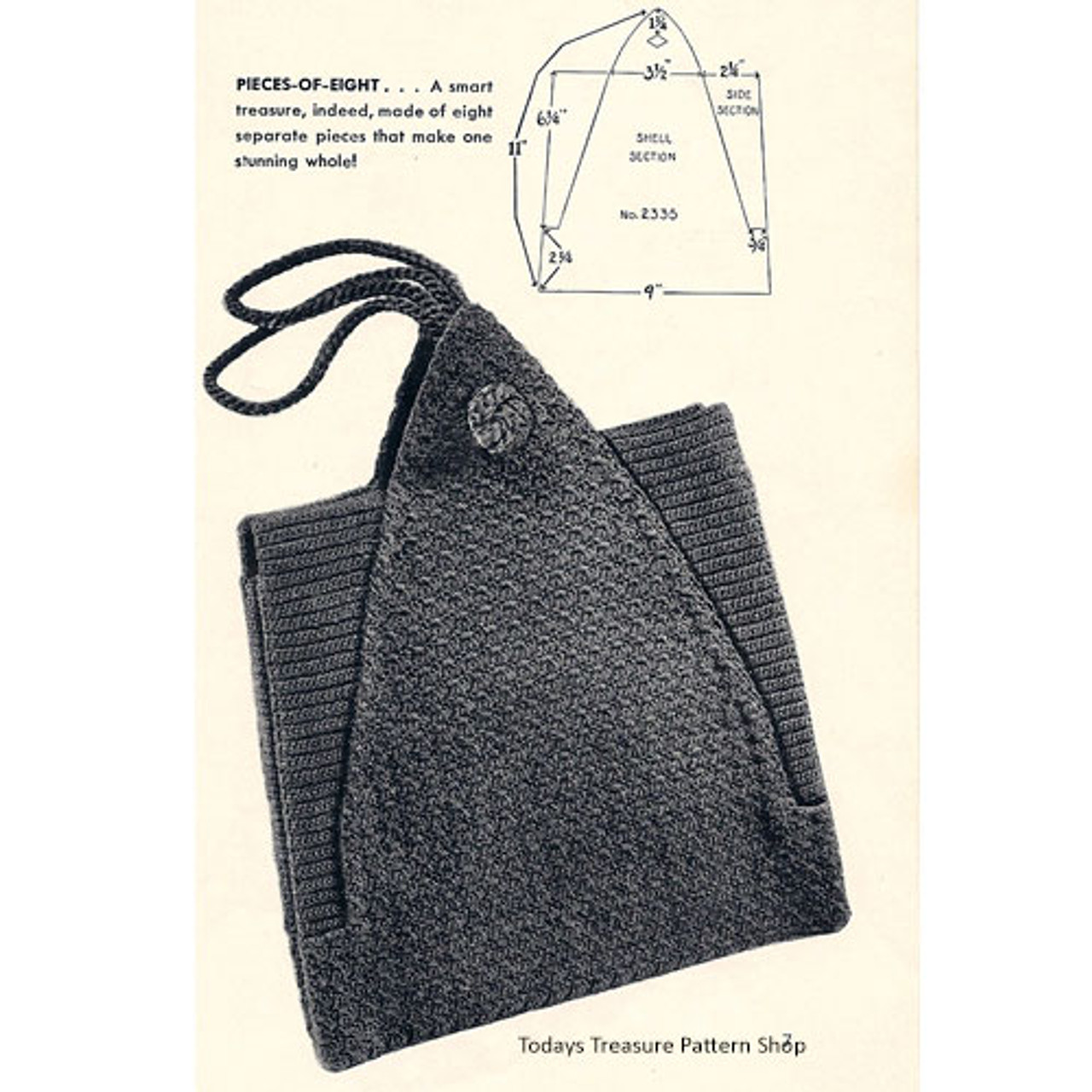 Crocheted Envelope Handbag Pattern