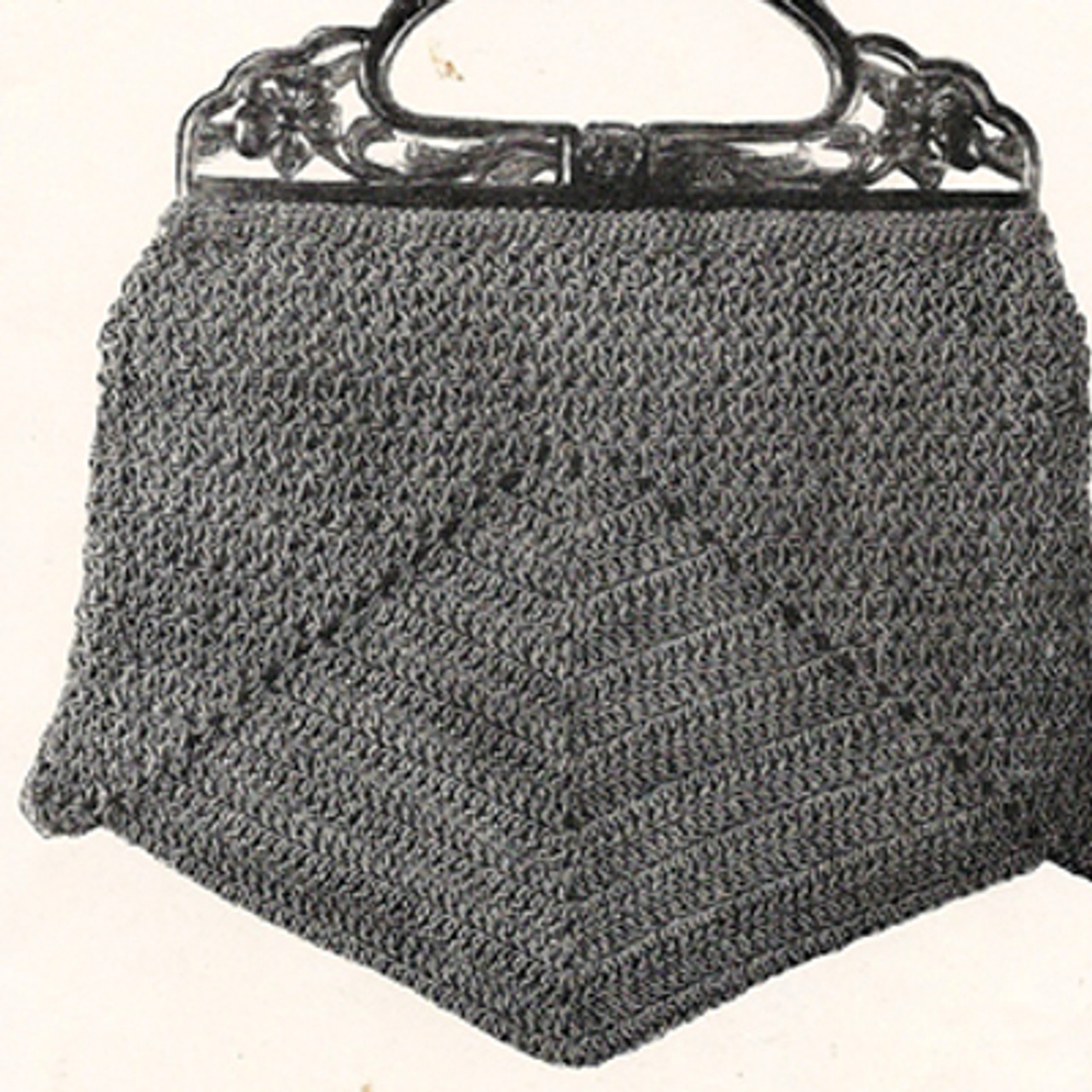 Vintage Crochet Bag Pattern with Wood Handle