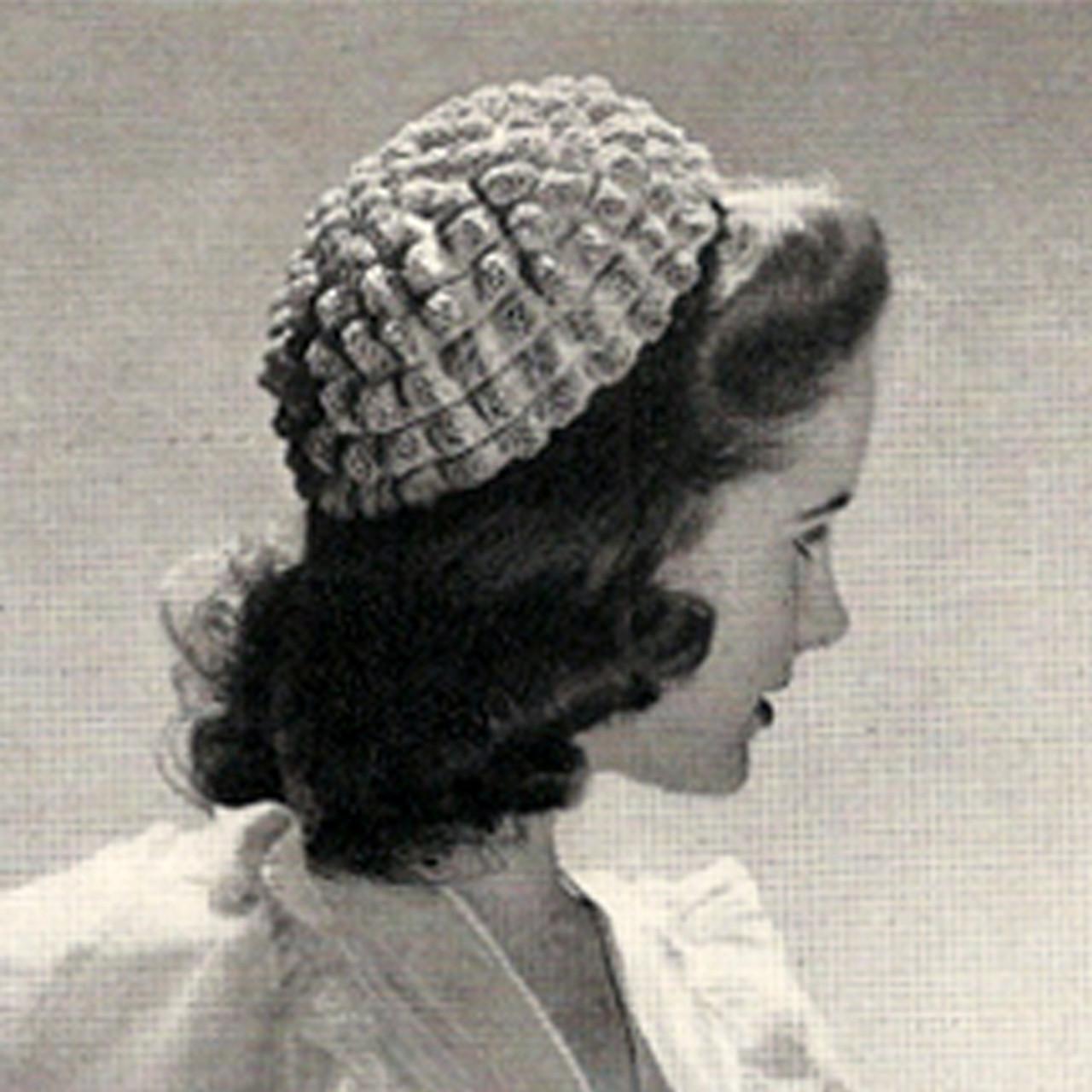 Vintage Popcorn Calot Crochet Pattern