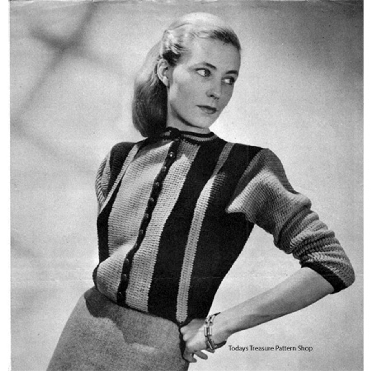 Vintage Striped Sweater Crochet Pattern