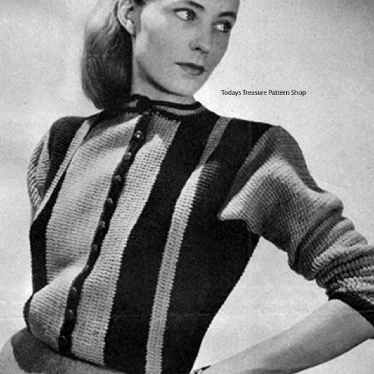 Crochet Striped Sweater Pattern