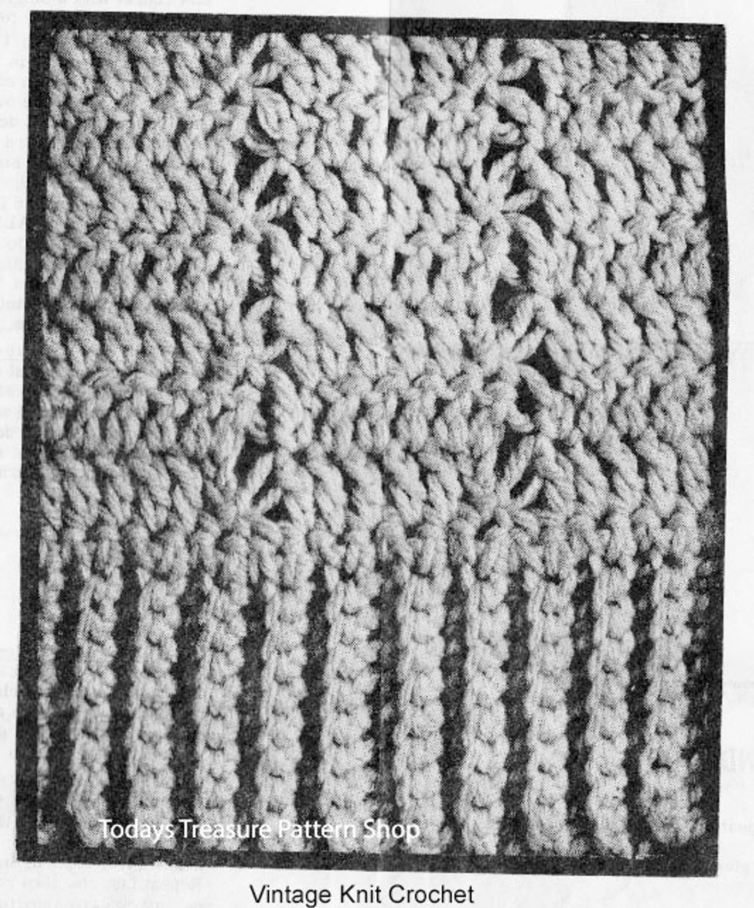 Crocheted Shell Pattern Stitch Detail, Design 7068